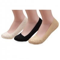 Imaly Women's No-Show Low-Cut Sock Silicon Non-skid Heel Grip Non Slip Socks 3 Pairs