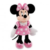 Watch! Minnie Toys 48cm 19'' mouse Stuffed Animals Pelucia Mickey Mouse Girl Friend Minnie Plush Toys for Children