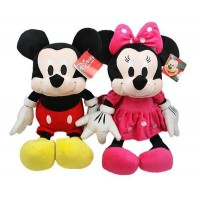 2pcs/lot American edition one Mickey and Minnie Stuffed animals plush Toys,35cm,High quality Kids Christmas Gift