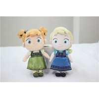 2pcs/lot Frozen Doll 30CM childhood Plush Elsa Anna baby plush Soft Toy Brinquedos Kids Dolls for Girls