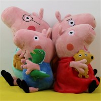 (4 pieces/set) peppa pig family 30CM Daddy Mummy 19CM George Peppa Plush Stuffed Doll Baby Toys