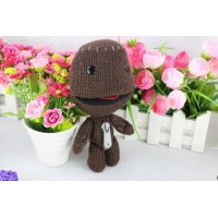 Classic Toys 1pc Little Big Planet Soft Woolen Yarn Toys Dolls Brown Sackboy Sackgirl Sackosarus Stuffed Animal Doll Kids Gift