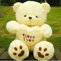 2016 low price 40cm white Teddy Bear, Lovers Big bear Arms Stuffed Animals Toys Plush Doll ,I LOVE YOU bear Valentines Cute Gift