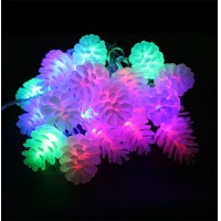 Pinecone Led String Light 5M 20Leds 8 Modes Fairy LED String Christmas Lights Echinacea Garlands For Holiday Wedding Party