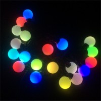 Outdoor Waterproof Big Size 4cm Ball Led String Light 220V 5M 20leds Fairy Decoration light For Holiday Party Wedding Garden Use