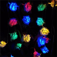 2M Wedding Rose Flower LED Valentine's Day String Lights Battery Colorful Rosa Christmas Festival Party Garden Bedroom lumiere
