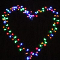 4M 40pcs LED Party Fairy Lights Battery Operated Five-pointed Star LED string lights for Wedding Xmas Party Outdoor Indoor use