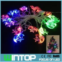 New 4M/20LED AC110V~220V RGB Moon Star Waterproof LED String Light Christmas Lights for Holiday Party Wedding Decoration