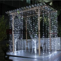 LED Christmas Falls Curtain Light Ice Light 3*3M 300LED Wedding Party Decoration String Light Lamp with Stars