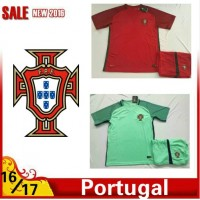 2016 2017 Thailand quality Portugal Soccer jersey kids kits 16/17 Portugal survetement child football jersey maillot de foot Free shipping