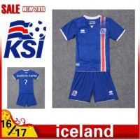 2016 2017 Thailand quality Iceland Soccer jersey kids kits 16/17 Iceland survetement child football jersey maillot de foot Free shipping