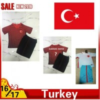 2016 2017 Thailand quality Turkey Soccer jersey kids kits 16/17 Turkey survetement child football jersey maillot de foot Free shipping