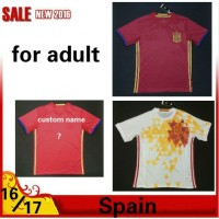 2016 2017 Thailand quality Spain Soccer jersey 16/17 Spain survetement football jersey maillot de foot Free shipping