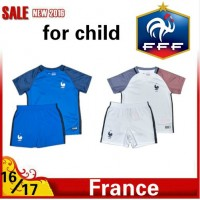 2016 2017 Thailand quality france Soccer jersey kids kits 16/17 france survetement child football jersey maillot de foot Free shipping