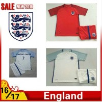2016 2017 Thailand quality England Soccer jersey kids kits 16/17 England survetement child football jersey maillot de foot Free shipping