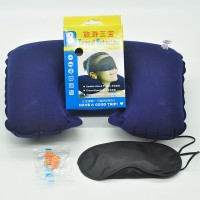 Travel Sambo Travel Sambo Air Flocking Pillow Pillow + Goggles + Earbuds with Box