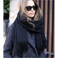 2016 winter women Scarves Tassel imitation cashmere shawl solid warm scarves