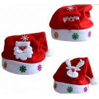 Christmas stickers cartoon caps Christmas hat ornaments cap decorative hat parent - child Christmas hat