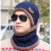 2016 winter fashion warm men  hats Plus velvet Wool cap Thickening Knitted hat Autumn And Winter Hedging Cotton cap