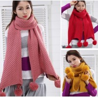 2016 WINTER WOMEN new Ball of yarn scarf winter Lengthened Keep warm Thicker scarf