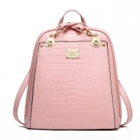 New backpack bag leisure female students crocodile grain backpack backpack sweet lady
