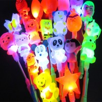 Cartoon light spring bar Our Halloween flashing Christmas toys for children