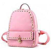 New shoulder handbag fashion leisure backpack backpack or lend students rivet package