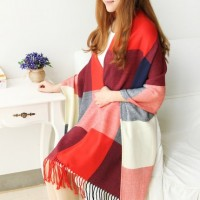 Han edition thickening warm scarf in the fall and winter of female long plaid shawl cashmere wool collar couples joker