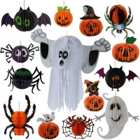 Christmas Halloween bar KTV decorative supplies props ghost witch spider bats hanging pendant stereo lanterns