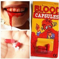 Creative April fool's day Parody strange trick trick toys spray blood pills props scary pills for vomiting blood moving blood
