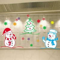 Christmas decorations window post color electrostatic post to decorate the window glass Christmas ornaments store hotel decoration