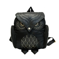 Han edition PU embossing owl backpack The new women's cartoon animals backpacking trip tide female bag