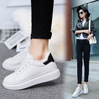 2016 spring and summer velvet small white shoes female thick end sports shoes fashion casual board shoes students increased running shoes