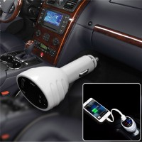 VST VST-708 multifunction triple-board voltage temperature monitor Dual USB Car Charger