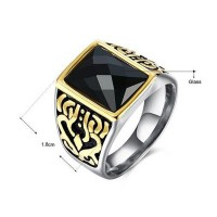 Fashion Men'fashion Stainless Steel Domineering Ring Free Shipping