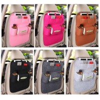 Fashion Multi-pocket Car back seat hanging organizer Auto interior bags car accessories