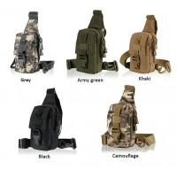 Men's Fashion Outdoor Hiking camping Military Tactical Molle Shoulder chest bag