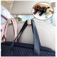 Multi-functional 2pcs Car Hook Seat back headrest hanger for luggage bags or food rubbish