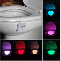 Toilet Nightlight 8 color bathroom human body auto motion Sensor Activated LED light toilet bathroom lamp
