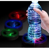 Fashion Colorful RGB changing LED light drink Beer wine glass bottle cup coaster mat Bar