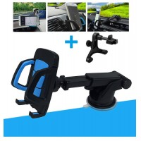 Multifuctional 2 in 1 Car windscreen Dashboad mobile phone holder suction cup Air Vent Mount   for mobile phone size from 3.5 to 6.5 inches
