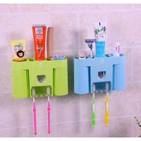 2016 Multifuctional Home Bathroom accessories Toothbrush Holder Automatic Toothpaste Dispenser Toothpaste