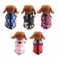 Winter Warm Pet Dog Clothes Vest Harness Puppy Coat Jacket Apparel 5 Color Large