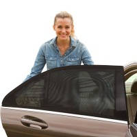 FireAngels Universal Fit Car Side Window Sun Shade, Pack of 2