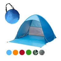 FireAngels 2-3 Persons Hot Fishing Tent Outdoor Camping Beach Summer UV Protection Tent Fully Hiking Sun Shade Quick Automatic Opening Paperback Carry(Blue)