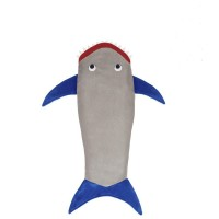 FireAngels Shark Tail Blanket for KidsDouble-sided Fluffy Sleeping Bag (Grey and Blue)