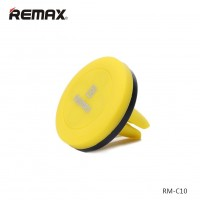 Remax International Magnetic Car Phone Holder, Car Phone Mount (Yellow)