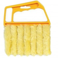 FireAngels 1 PC 7-Blades Shutters Cleaning Brush Window Blinds Brush Air Conditioning Cleaner Shutter Multifunctional Dust Cleaning Brush