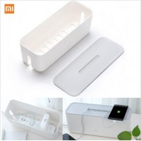 Original xiaomi Power Cord Socket Storage Box Dust insulation Cooling Hole Strip Plug Base Finishing Tying Box Home Storag Tools