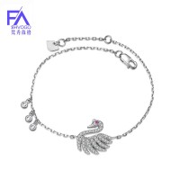 925 original love charm silver bracelet for women